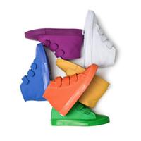 sapatos têxteis venda por atacado-Novos calçados casuais crianças sapatas de lona estudante de Têxtil de ventilação das meninas das meninas meninos Sapatos de alta moda Ajuda legal