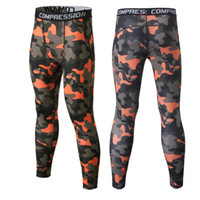 сжатие ног оптовых-2018 Quick Dry Camo Kids Compression Pants Boys Fitness Pants Kids Skins Compression Tights Football Running Legging Trousers