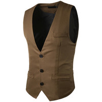 Wholesale good quality suits for men for sale - Group buy Smart Casual Men s Suit Vest Good Quality Solid Color Business Wedding Dress Vest For Mens Fashion Slim Fit Waistcoat Men Navy