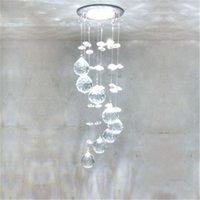 koridorlar için asmalar toptan satış-3 W LED Kristal Tavan Işık Küçük Avize Tavan Lambası Kolye Işık Koridor