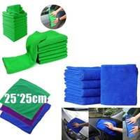 Wholesale Auto Hand Cleaner - Free Shiping 25*25cm Microfiber Towel Quick Dry Soft Auto Car Wash Cloth Dust Cleaner Kitchen Cleaning Water Absorbent