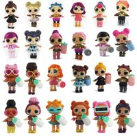 Wholesale boneca toys online - 8 cm LOL DOLL ALL series baby Dolls Boneca Little Toys Dress Egg Drink Water Glitter Baby Doll Anime Brinquedos Figure Toys For Kids Gifts