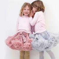 Wholesale white dress for dancing - New Baby Girls Tutu Skirt Ballerina Pettiskirt Layer Fluffy Children Ballet Skirts For Party Dance Princess Dress Girl Tulle Miniskirt