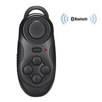 controlador de juegos gamepad android al por mayor-Control remoto inalámbrico portátil Bluetooth Gamepad Gamepad Joystick para Android / iOS Sony PC Selfie Remote Shutter