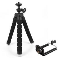 kamerahalterclip großhandel-Flexibler Schwamm-Stativ-Halter für Handy-Auto-Kamera Gopro Universalmini-Kraken-Schwamm-Standplatz-Klammer mit Telefon-Berg-Klipp
