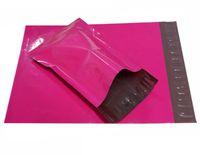 große plastikverschiffenbeutel großhandel-5 Größen Klein Große rosa Versandumschläge, kleine rosa Poly-Versandtasche, Versandtaschen für Versandtaschen aus Kunststoff