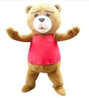 mascotes de urso adulto venda por atacado-2018 new positive seller venda quente tedy traje adulto pele teddy bear mascot costume