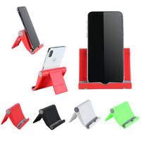 mini soporte para teléfono móvil plegable universal al por mayor-1 Unids Universal Ajustable Mesa Plegable soporte de escritorio de teléfono celular soporte para xiaomi Multi-ángulo Mini soporte para Teléfono
