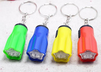 Wholesale flower keyrings - Flower Shape Portable Cute Bright LED Flashlight Key Chain Mini KeyChain Torch Flashlights Plum keyRing for Hiking