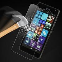 film lumia venda por atacado-2 pcs protetor de tela para vidro Lumia 535 vidro temperado para Lumia 535 microsoft N535 Phone Film
