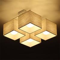 kumaş lambalar toptan satış-Kumaş sanat Bez LED Tavan Işık Nordic LED tavan Lambaları Modern Oturma Odası Lamba Yatak Odası Mutfak Aydınlatma, destek Ajan Damla Nakliye