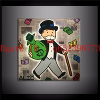 Wholesale Fine Art Framing - Alec Monopoly : Wall Street Monopoly, Bel-Air Fine Art,Home Decor HD Printed Modern Art Painting on Canvas (Unframed Framed)