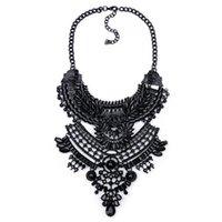 ingrosso gioielli di costume della boemia-Collana lunga ciondolo a strati nero perla Boho Collana all'ingrosso gioielli bohemien collana gioielli dichiarazione maxi