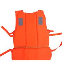 orange sicherheitswesten großhandel-Erwachsene Schwimmweste Orange Schaum Flotation Schwimmen Auftrieb Weste Outdoor Wassersport Sicherheit Ausrüstung Hohe Qualität 9 8ya Ww