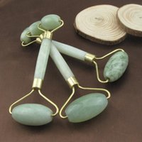 Wholesale thin body massage - Natural Jade Roller Face Thin Massager Jade Facial Beauty Massage Tool Body Relax Tool