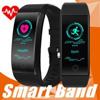 импульс умных часов оптовых-QW18 Умный браслет Интеллектуальные Спорт браслет Фитнес Sleep Tracker IP68 Pulse Часы Открытый Smartband рк яблоко часы Xiaomi