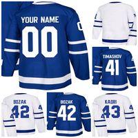 be82eb7de00 Cheap Mens Womens Kids Toronto Maple Leafs 41 Dmytro Timashov 42 Tyler Bozak  43 Nazem Kadri Customized Stitched Logos Ice Hockey Jerseys
