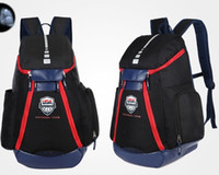 Wholesale Usa Olympic Basketball - Basketball Backpacks New Olympic USA Team Packs Backpack Man's Bags Large Capacity Waterproof Training Travel Bags Shoes Bags Free Shipping