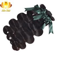 saç örgüsü demetleri satın alma toptan satış-AliAfee Saç Brezilyalı Vücut Dalga Remy İnsan Saç Dokuma Paketler Doğal Siyah Uzatma 1 Adet 8-28 '' 4 veya 3 Demetleri Satın Alabilirsiniz