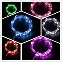 botões de luz de cor led venda por atacado-Festival Decor Lâmpada Estrela Botão Cor Da Bateria Levou Cordas de Fio de Cobre Decoração Quente Pura Luz Branca Com Multicolor 3 1yl jj