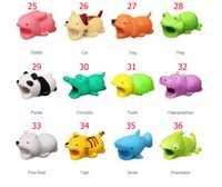 Wholesale animal mobile phone charms for sale - Group buy Cell Phone Accessory Cable Bite Protector Newest styles Animals For Most of Mobile With OPP package