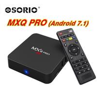 Wholesale a7 android tv online - Cheapest Rockchip MXQ PRO TV Box RK3229 Quad Core Cortex A7 GHZ G G Android TV BOX WiFi K D Android ott tv box media players
