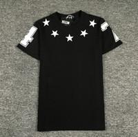 estrela nova do impressão da camisa venda por atacado-Estrelas Impressão Homens Tripulação Pescoço T-shirt de Manga Curta 3 Cores Verão Encabeça Moda Nova T-shirt Para Homens