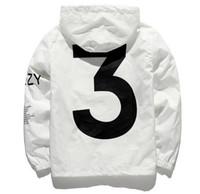 chaquetas de la nueva temporada al por mayor-Marca nueva chaqueta de diseñador de moda rompevientos temporada 3 hombres chaquetas ropa de los hombres mujeres con capucha monopatín Streetwear ropa de los hombres