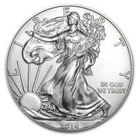 controle wb rgb branco venda por atacado-A ordem da amostra, Frete Grátis 2016 1 oz Moedas de Prata Águia Americana + 2016 a estátua da moeda da liberdade da tira