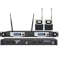 uk monitörler toptan satış-UKINGMEI UK-9400 Aşamasında kulak izleme sistemi Profesyonel monitörleri kablosuz kulak monitör sistemi çift verici 2 alıcı