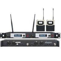 monitores del reino unido al por mayor-UKINGMEI UK-9400 Sistema de monitoreo en el oído del escenario Monitor profesional Los monitores inalámbricos en el sistema del monitor del oído transmisor dual 2 receptor