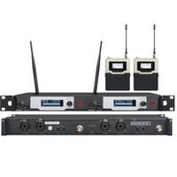uk-überwachung großhandel-UKINGMEI UK-9400 Stage-In-Ear-Monitoring-System Professionelle Monitore mit drahtlosem In-Ear-Monitoring-System mit zwei Sendern und zwei Empfängern