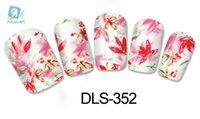ingrosso fiori d'acqua cinese-Rocooart DLS337-352 FAI DA TE Acqua Trasferimento Sventa Nail Art Sticker Moda Unghie Brillare Fiore Cinese Decal Minx Cute Nail Decorazione