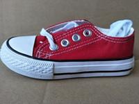 zapatos de marca de moda para niños al por mayor-Nueva marca de fábrica embroma los zapatos de lona de moda de alta - baja zapatos de niños y niñas de deportes de la lona zapatos de los niños tamaños 24-34