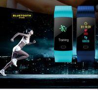 pantalla de pulsera bluetooth al por mayor-Pulsera Bluetooth inteligente Pulsera Y5 0.96 Pulgada Pantalla Paso Distancia Calorías Frecuencia cardíaca / Presión arterial / Oxígeno / Monitoreo para dormir