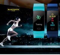 bluetooth armbandanzeige großhandel-Smart Bluetooth Armbänder Armband Y5 0,96 Zoll Display Schrittweite Kalorie Herzfrequenz / Blutdruck / Sauerstoff / Schlafüberwachung