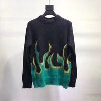ingrosso maglione fiamma-2018 PRD maglione fiammeggiante DOUBLET maglione pile moda uomo donna coppia moda capispalla tramonto libero nave