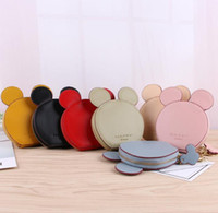 Wholesale kids wallets online - 7 color Happy Dream Coin Purse Ears Coin Purse Zipper Mini Wallet round ears Gilrs Kids Card Holder Students Small zipper wallet KKA5878