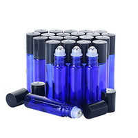 Wholesale cobalt glass for essential oils for sale - Group buy 200Pcs10ml Roller Bottles for Essential Oils Cobalt Blue Glass with Stainless Steel Roller Balls Glass Roller Bottles