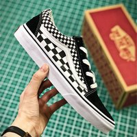Wholesale canvas shoes volleyball - Vans Old Skool Women Men Skateboarding Shoes Black and White Checkered Sports Shoes Canvas Shoes size 35-44