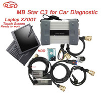 Wholesale das c3 - Multi-languages MB STAR C3 Multiplexer V05.2018 HDD Xentry DAS full function with X200T laptop Ready To Work for Ben-z vehicels