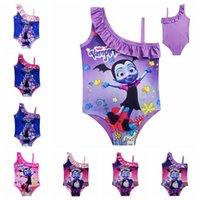 Wholesale girls character swimwear for sale - Vampirina kids swimwear T Baby Girls Swimsuit Vampirina Printed One pieces swim suit Cartoon Printed Swimsuit Bathing Suits MMA394