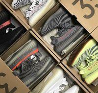 Wholesale freeze brand - 2018 Boost 350 V2 Blue Tint Yellow Frozen Zebra Designer Luxury Brand Sport Casual Dress Shoes Women Mens Running Shoes for Men Sneakers