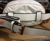 Wholesale Designer Name Handbags - 2018 new designer name leather waist bags women men letter shoulder bags Belt Shoulder Bag Women Bags Handbags SIZE18X12X6CM