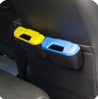lixo do carro pode lixo venda por atacado-Criativo Car Lixeira de Lixo Doces Cores Caixa De Armazenamento De Plástico Conveniente Multi Função Organizador de Alta Qualidade 3 5zb BB