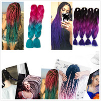 Wholesale beautiful hair pieces - beautiful color Braids Braiding Hair 100g piece Synthetic ombre hair High Temperature Fiber Hair Extensions