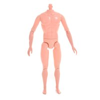 Wholesale Baby Doll Heads - 1PC Doll without Head Doll Male Naked Body Necessary For Baby Dolls DIY All Joints Moveable Boy Body Toy