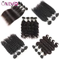 Wholesale curly machine price - Wholesale Price Brazilian Virgin Hair Weave Bundles Body Wave Deep Curly Kinky Curly Cheap Human Hair Extensions Unprocessed Virgin Hair 1B