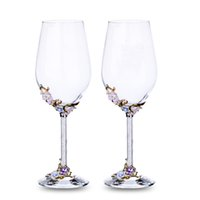 флейта подарки оптовых-GFHGSD Champagne Glass Flutes Perfect for Wedding Gifts, Set of 2,  K9 Crystal Toasting Flutes and Wine Glasses QWE1030