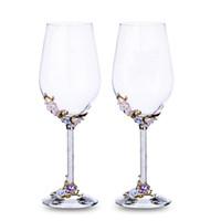 champanhe brindando venda por atacado-GFHGSD Flautas De Vidro De Champanhe Perfeito para Presentes de Casamento, Conjunto de 2, Luxo K9 Cristal Brindar Flautas e Vidros de Vinho QWE1030